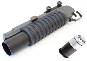 Airsoft Grenade Launcher and Grenade Shells