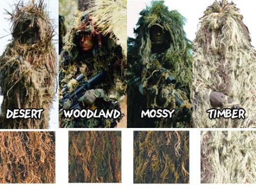 ghillie suit types