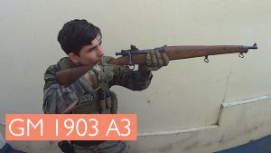 Springfield Bolt Action with Airsoft player