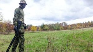 airsoft player in field